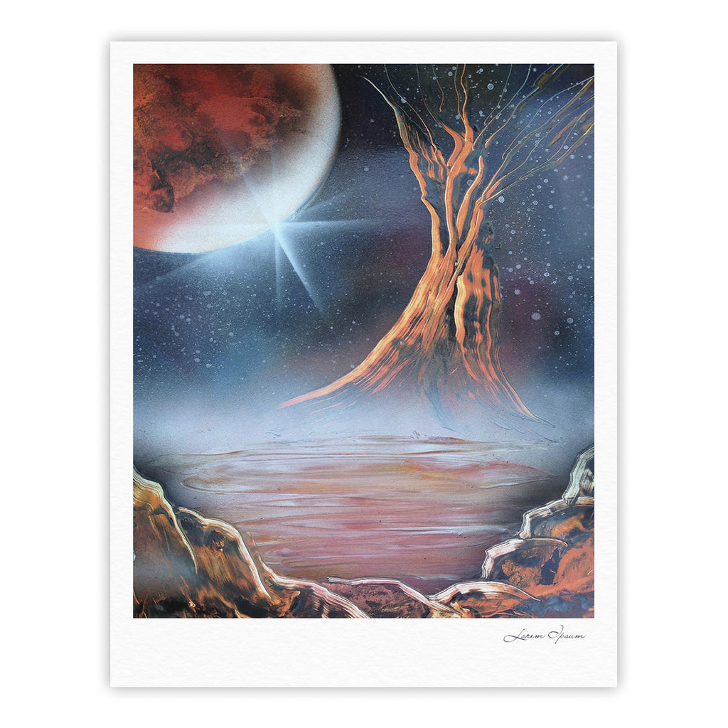 "Infinite Spray Art ""Embark"" Nature Blue Fine Art Gallery Print - KESS InHouse"