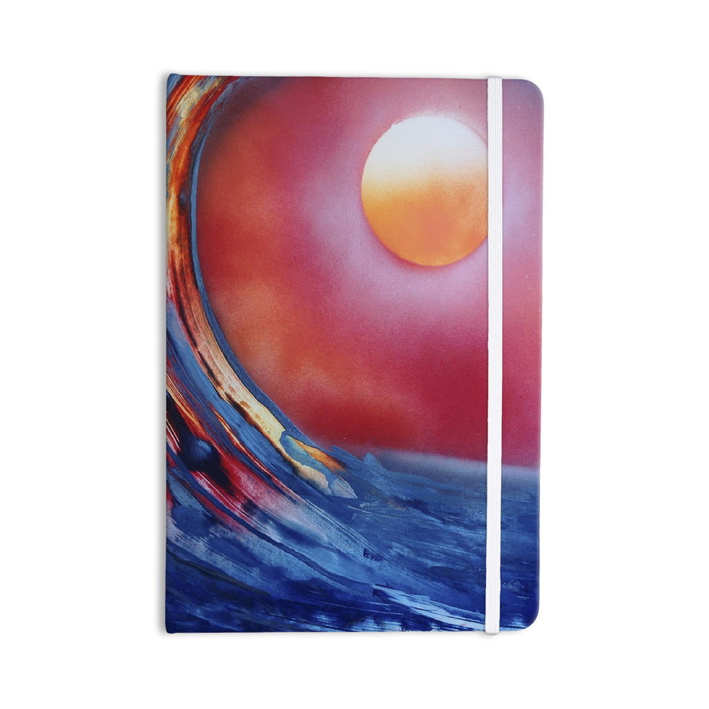 "Infinite Spray Art ""Ideal Barrel"" Blue Pink Everything Notebook - KESS InHouse  - 1"