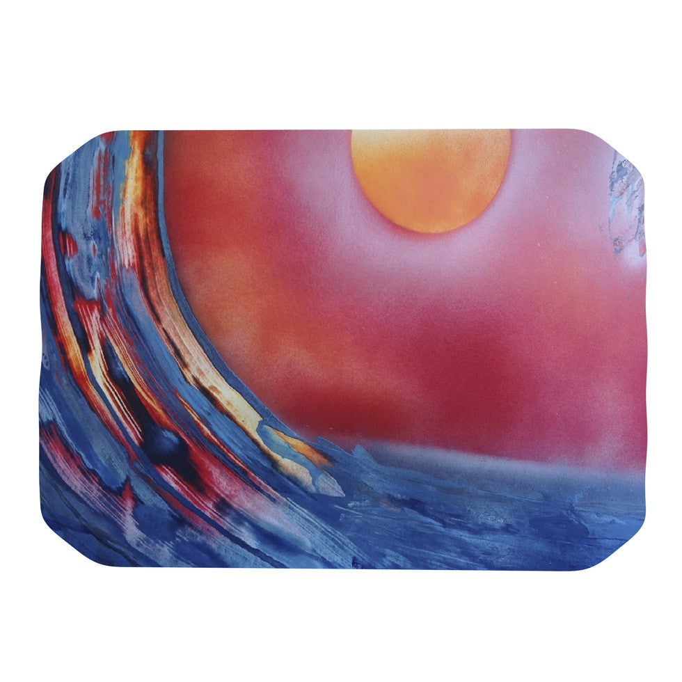 "Infinite Spray Art ""Ideal Barrel"" Blue Pink Place Mat - KESS InHouse"