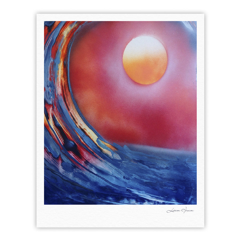 "Infinite Spray Art ""Ideal Barrel"" Blue Pink Fine Art Gallery Print - KESS InHouse"