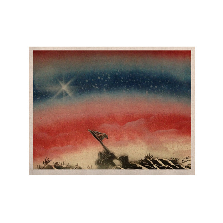 "Infinite Spray Art ""Veteran's Day"" Red Blue KESS Naturals Canvas (Frame not Included) - KESS InHouse  - 1"