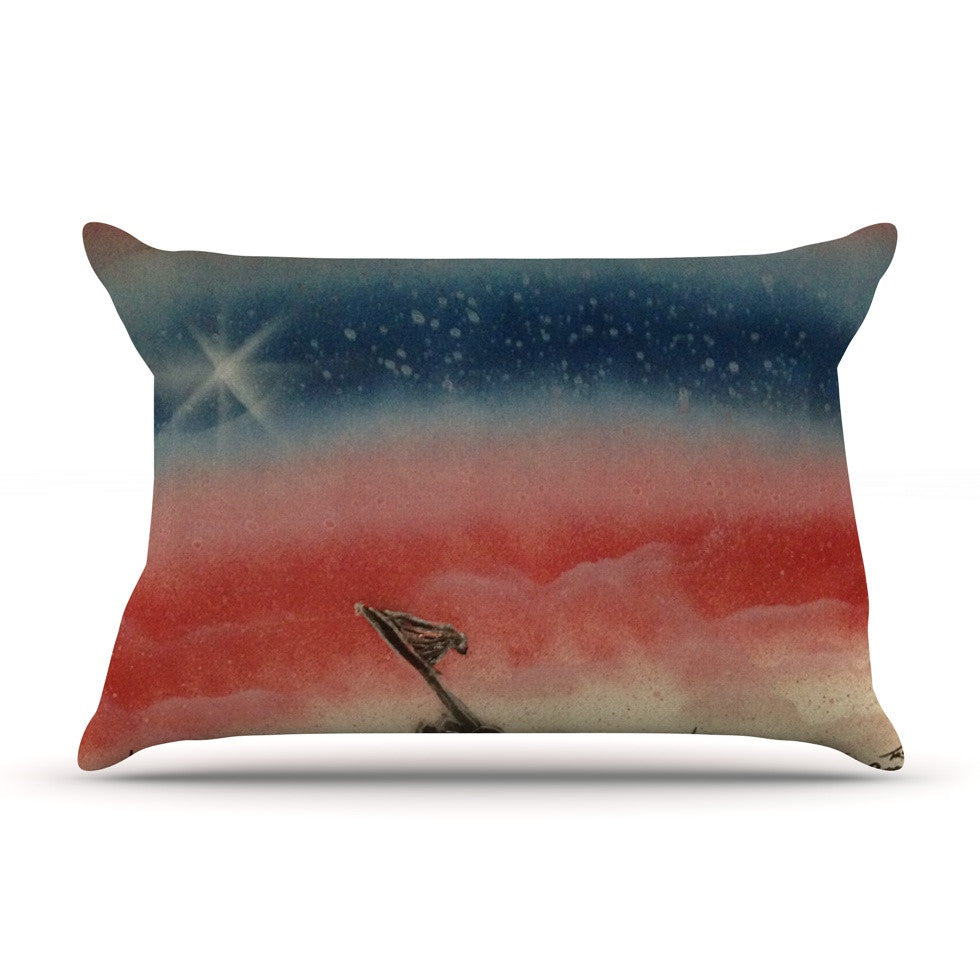"Infinite Spray Art ""Veteran's Day"" Red Blue Pillow Sham - KESS InHouse"