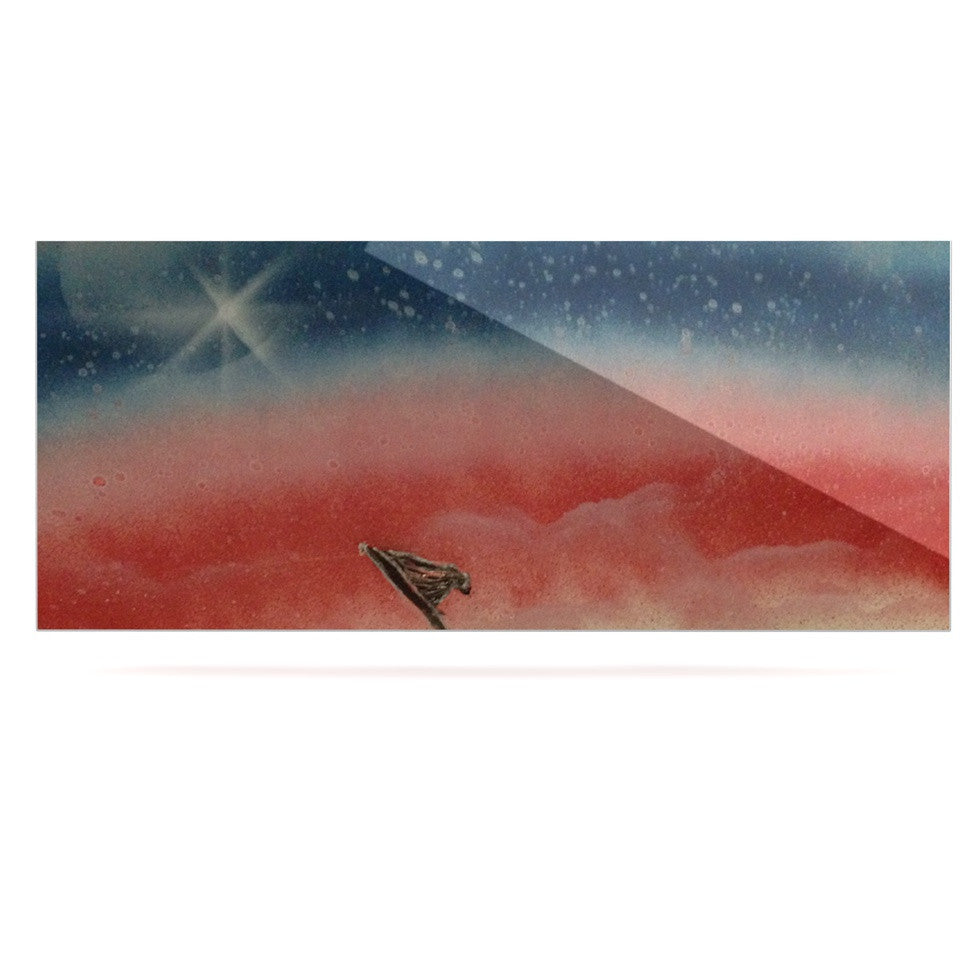 "Infinite Spray Art ""Veteran's Day"" Red Blue Luxe Rectangle Panel - KESS InHouse  - 1"