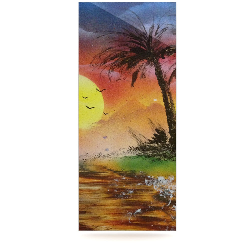 "Infinite Spray Art ""Maui Sunrise"" Beach Luxe Rectangle Panel - KESS InHouse  - 1"