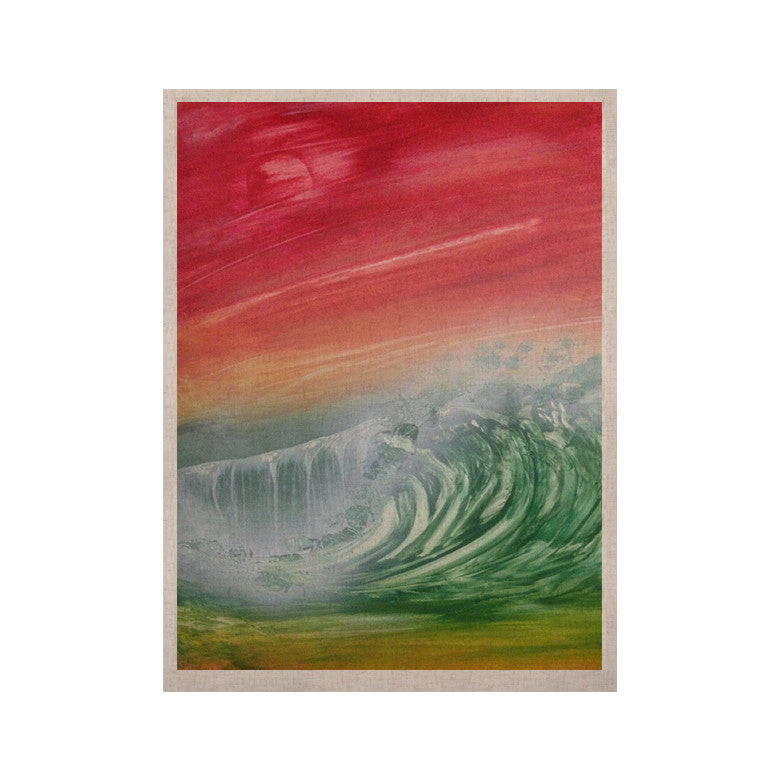 "Infinite Spray Art ""Can't Get Enough"" Pink Green KESS Naturals Canvas (Frame not Included) - KESS InHouse  - 1"