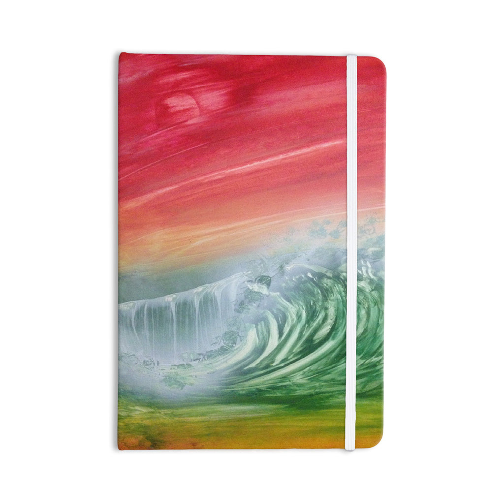 "Infinite Spray Art ""Can't Get Enough"" Pink Green Everything Notebook - KESS InHouse  - 1"