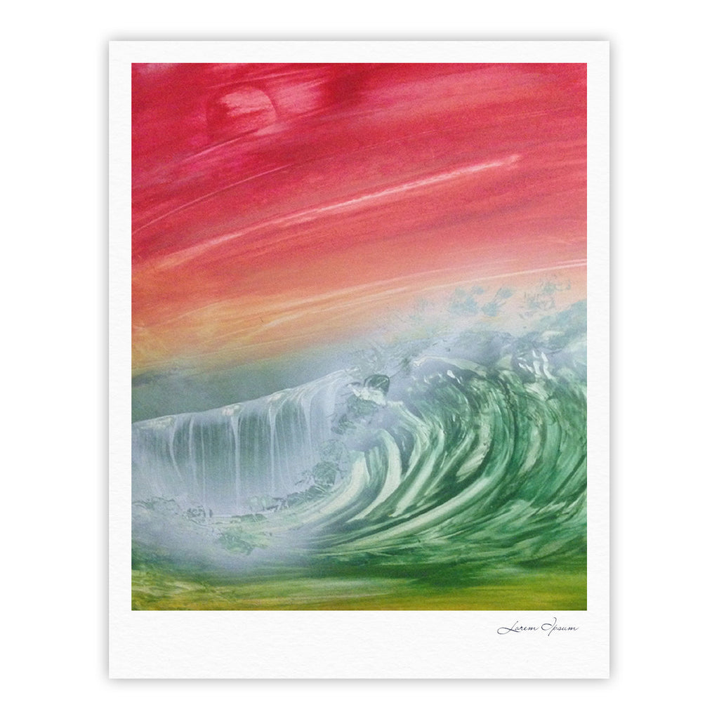 "Infinite Spray Art ""Can't Get Enough"" Pink Green Fine Art Gallery Print - KESS InHouse"