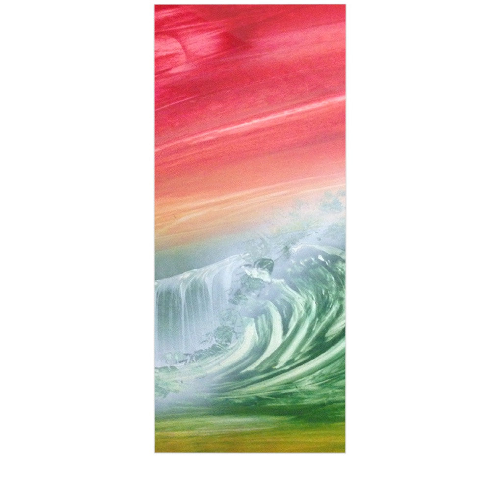 "Infinite Spray Art ""Can't Get Enough"" Pink Green Luxe Rectangle Panel - KESS InHouse  - 1"