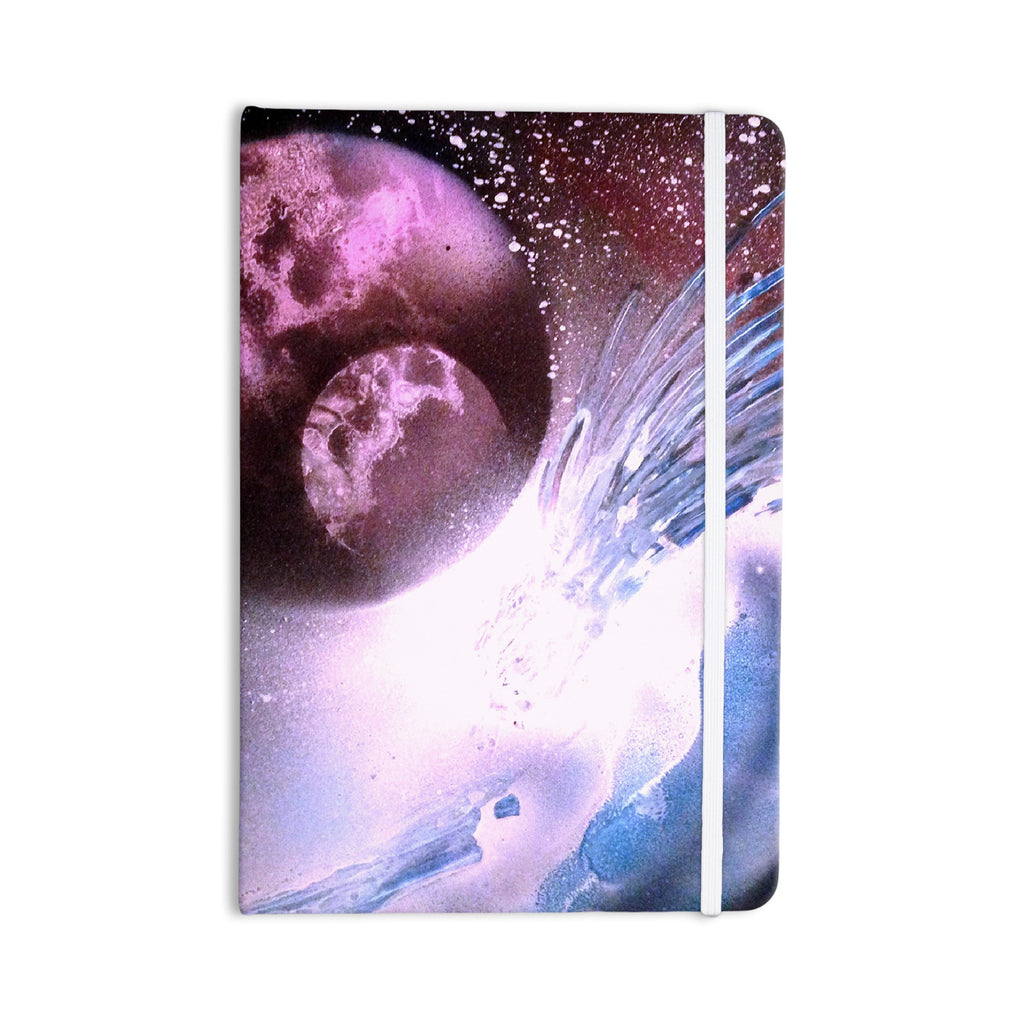 "Infinite Spray Art ""Space Tube"" Pink Purple Everything Notebook - KESS InHouse  - 1"
