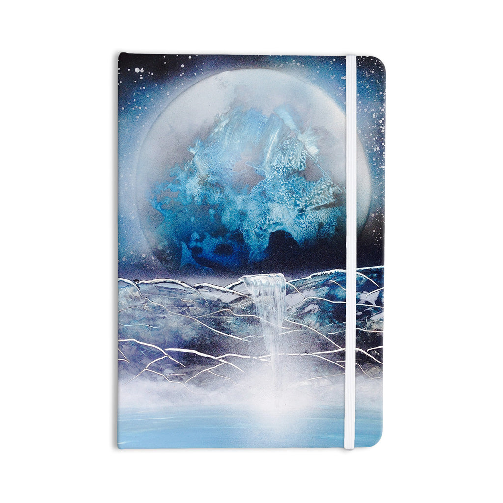 "Infinite Spray Art ""Surreal Falls"" Blue Planet Everything Notebook - KESS InHouse  - 1"
