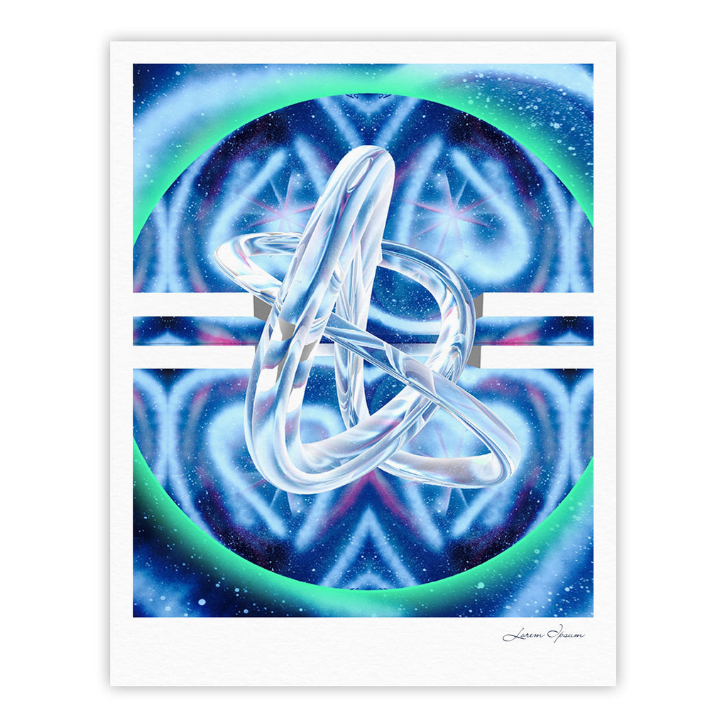 "Infinite Spray Art ""New Era"" Blue Green Fine Art Gallery Print - KESS InHouse"