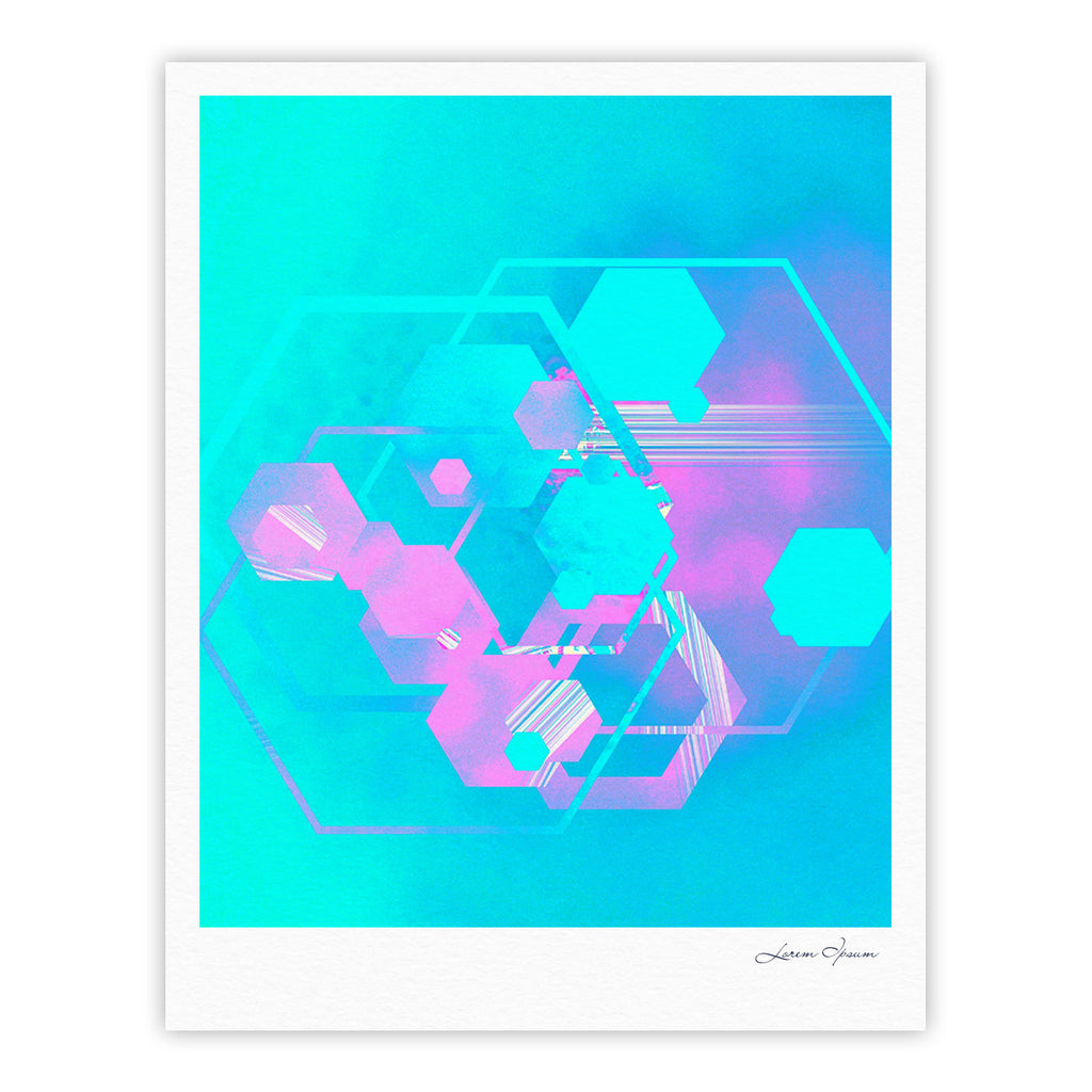 "Infinite Spray Art ""Emersion"" Teal Pink Fine Art Gallery Print - KESS InHouse"