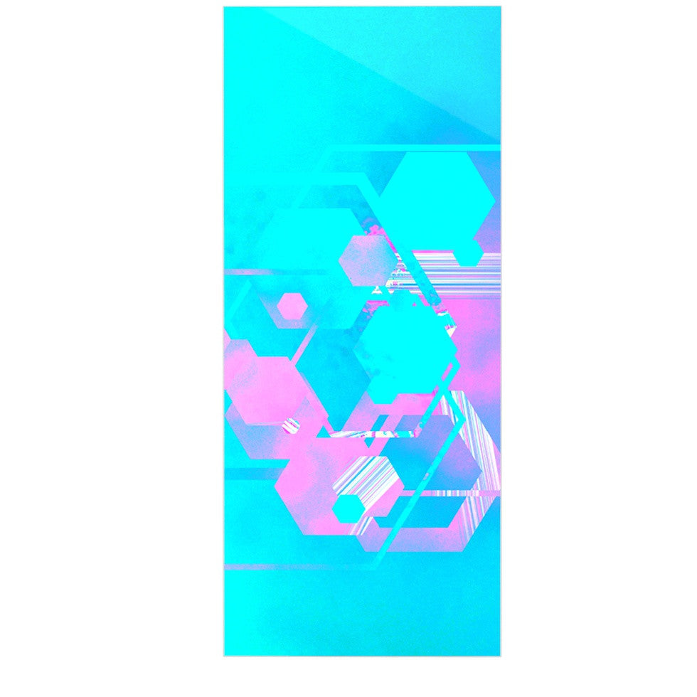 "Infinite Spray Art ""Emersion"" Teal Pink Luxe Rectangle Panel - KESS InHouse  - 1"