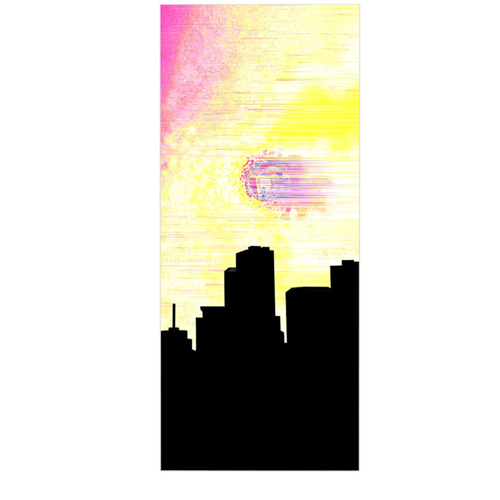 "Infinite Spray Art ""Skylined"" Pink Yellow Luxe Rectangle Panel - KESS InHouse  - 1"