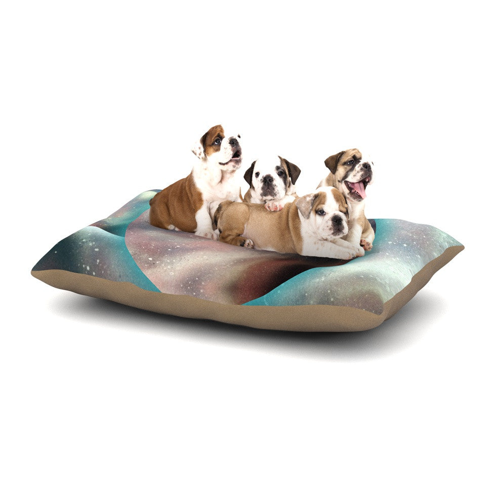 "Infinite Spray Art ""Dimensions""  Teal Planet Dog Bed - KESS InHouse  - 1"