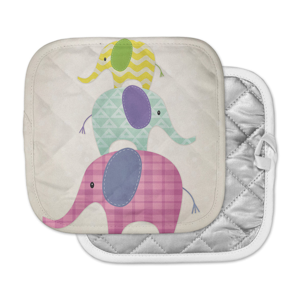 "Noonday Design ""Balancing Act "" Multicolor Kids Pot Holder"