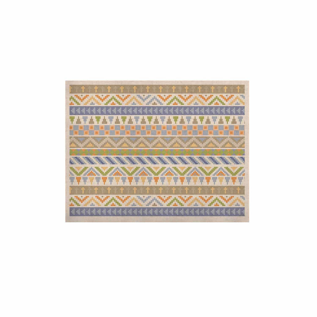 "Noonday Design ""Happy Tribal Pattern"" Pastel Abstract KESS Naturals Canvas (Frame not Included) - KESS InHouse  - 1"