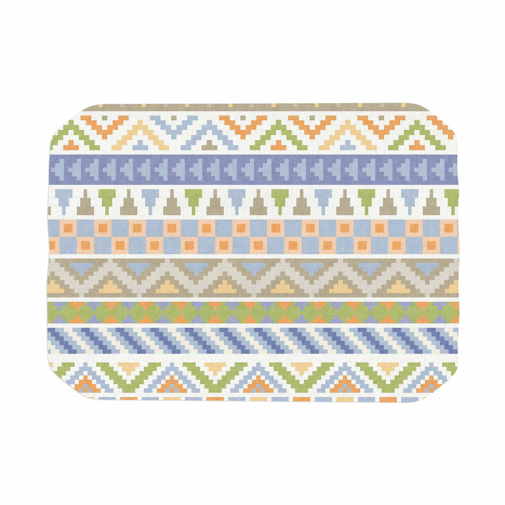 "Noonday Design ""Happy Tribal Pattern"" Pastel Abstract Place Mat - KESS InHouse"