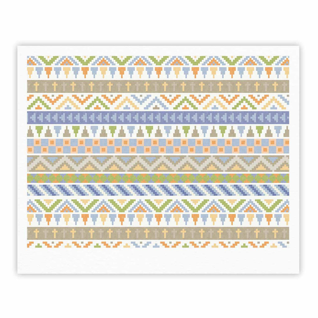 "Noonday Design ""Happy Tribal Pattern"" Pastel Abstract Fine Art Gallery Print - KESS InHouse"