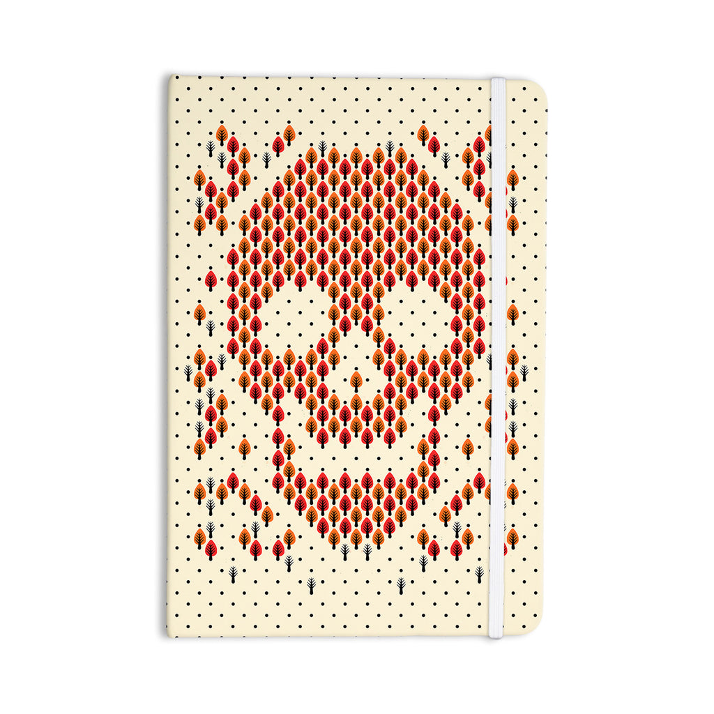 "Tobe Fonseca ""Deforestation"" Skull Illustration Everything Notebook - KESS InHouse  - 1"