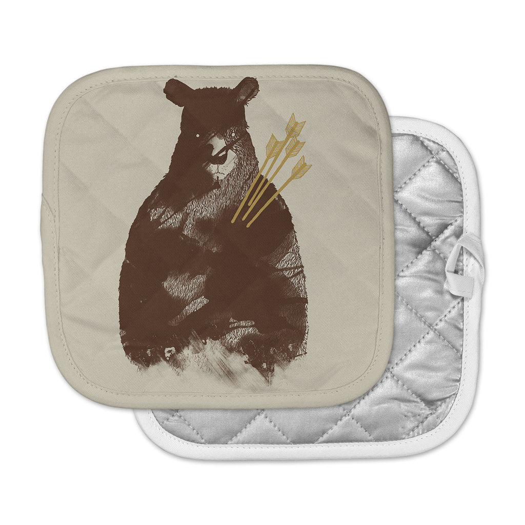 "Tobe Fonseca ""In Love"" Brown Bear Pot Holder"
