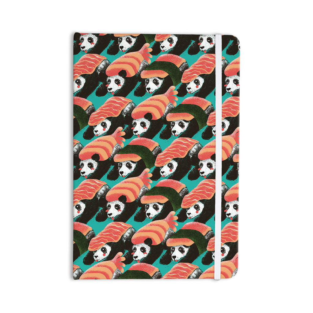 "Tobe Fonseca ""Sushi Panda"" Orange Blue Everything Notebook - KESS InHouse  - 1"
