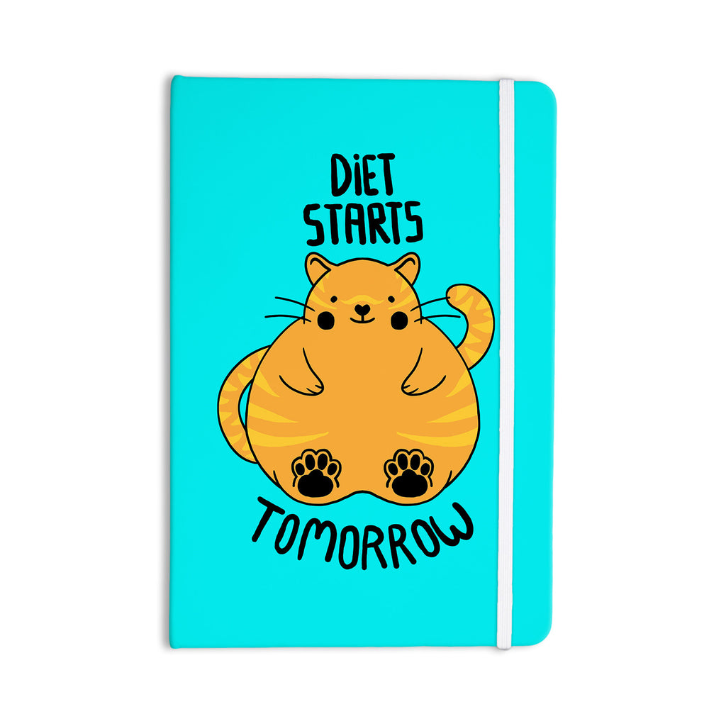 "Tobe Fonseca ""Diet Starts Tomorrow"" Blue Cat Everything Notebook - KESS InHouse  - 1"