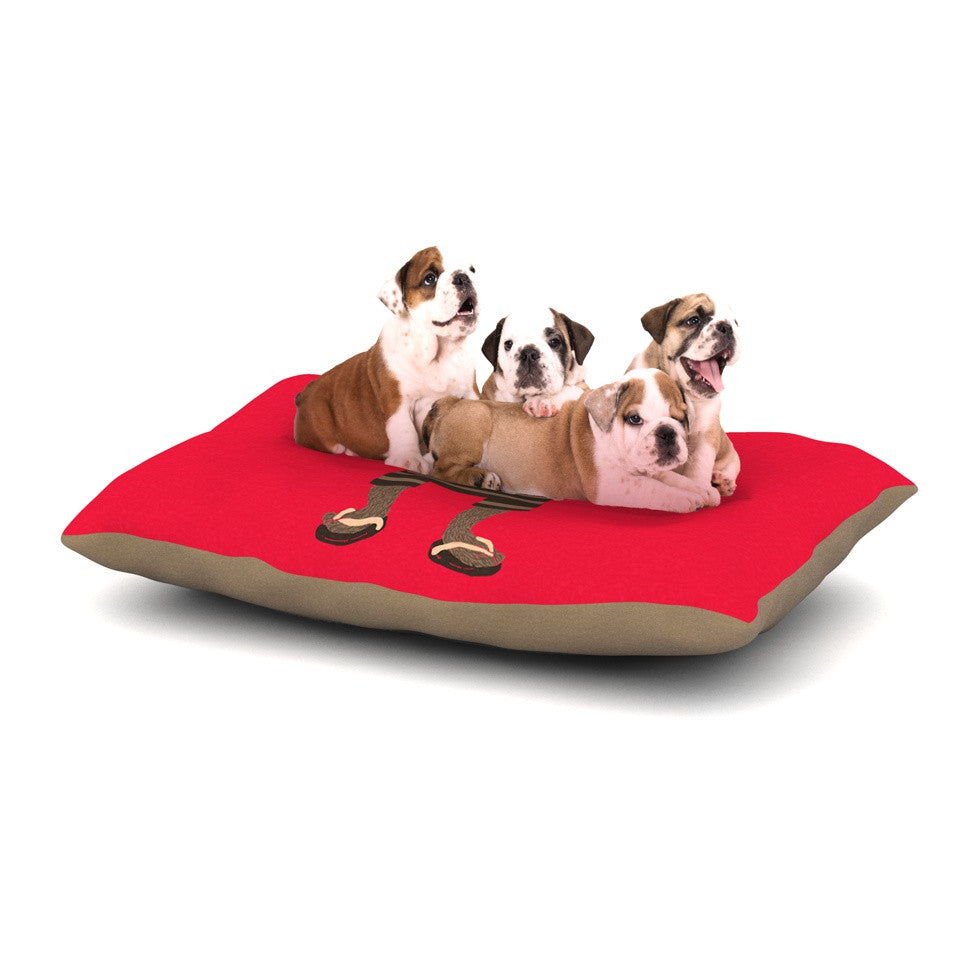 "Tobe Fonseca ""Vacation"" Red Brown Dog Bed - KESS InHouse  - 1"