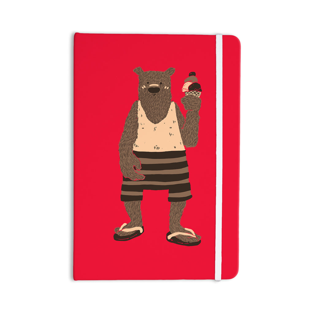 "Tobe Fonseca ""Vacation"" Red Brown Everything Notebook - KESS InHouse  - 1"