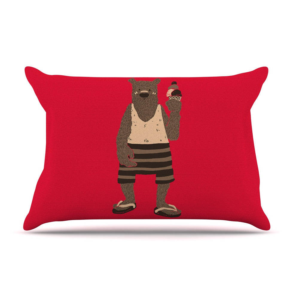 "Tobe Fonseca ""Vacation"" Red Brown Pillow Sham - KESS InHouse"