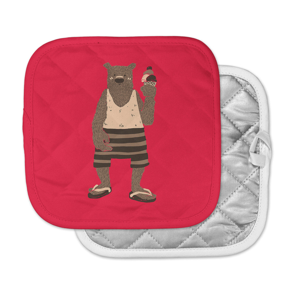 "Tobe Fonseca ""Vacation"" Red Brown Pot Holder"
