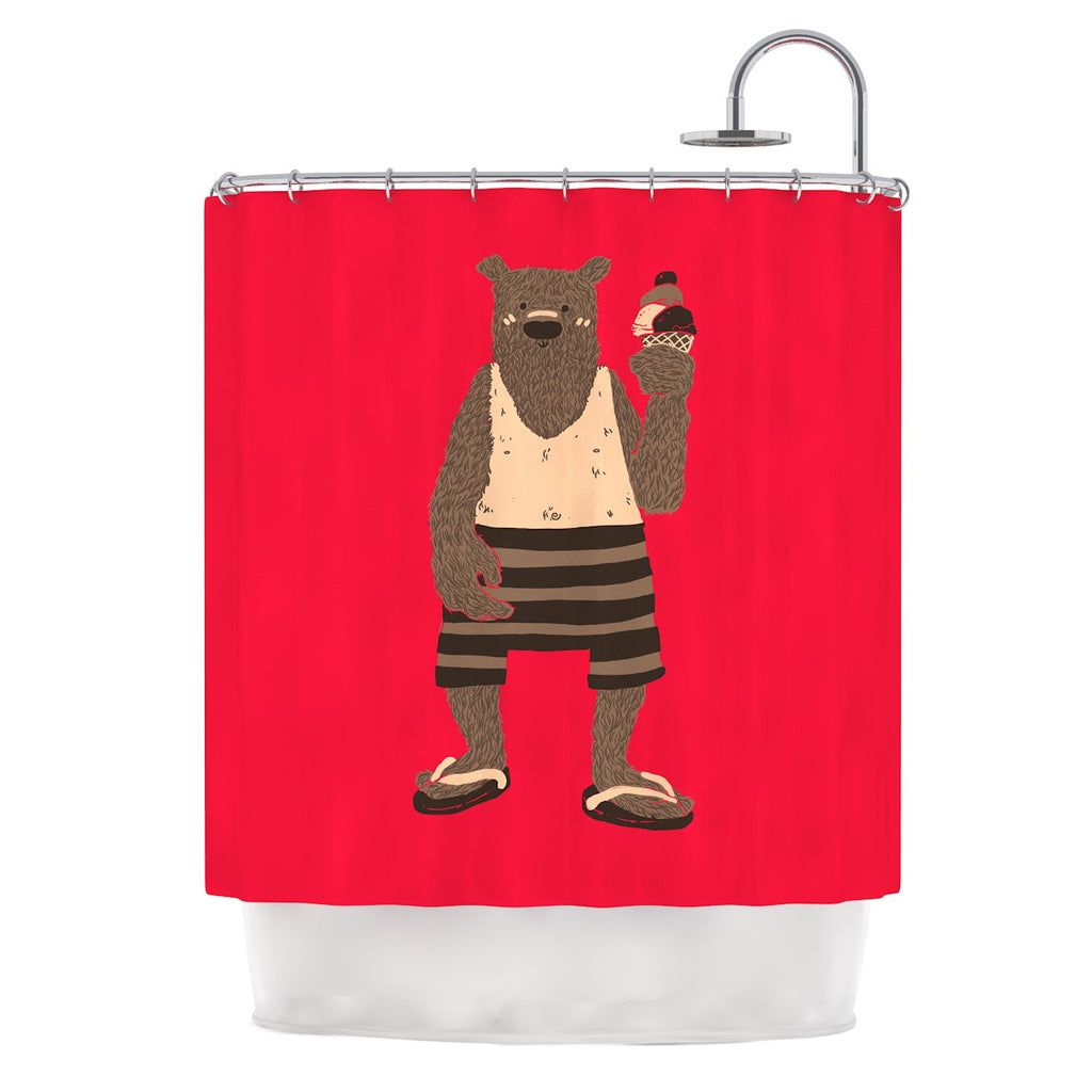 "Tobe Fonseca ""Vacation"" Red Brown Shower Curtain - KESS InHouse"