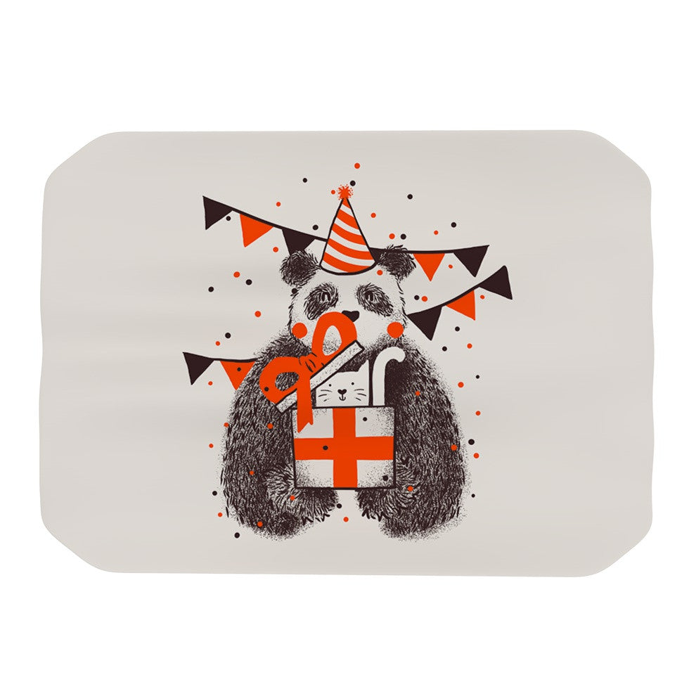 "Tobe Fonseca ""Happy Birthday"" Beige Brown Place Mat - KESS InHouse"