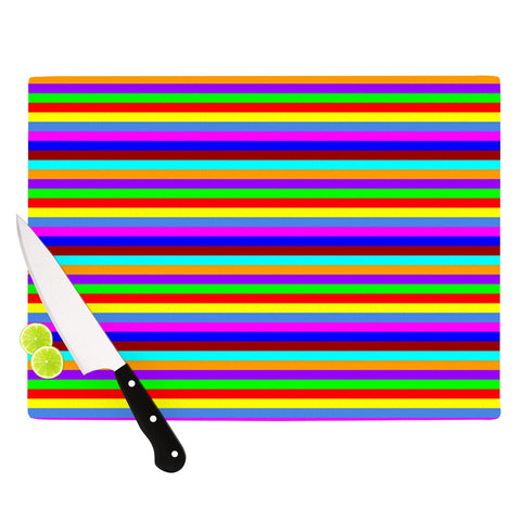 "Trebam ""Bombon"" Rainbow Stripes Cutting Board - Outlet Item"