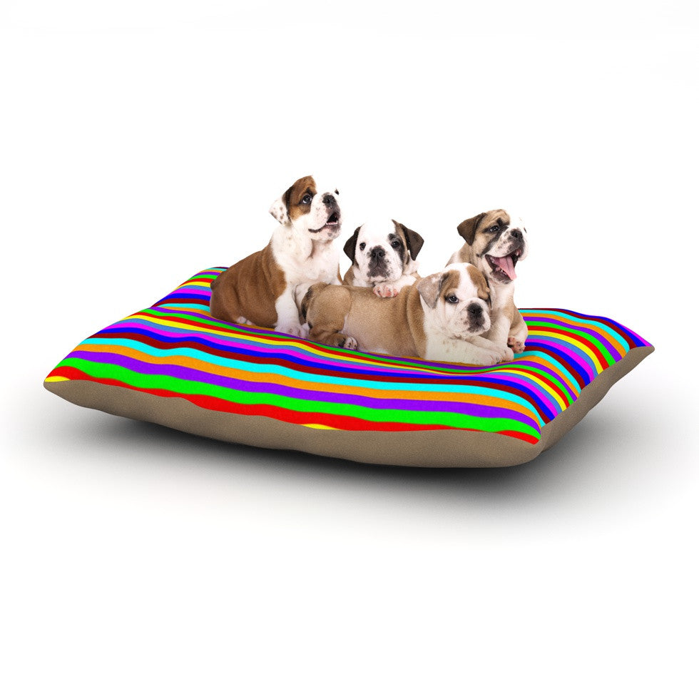 "Trebam ""Bombon"" Rainbow Stripes Dog Bed - KESS InHouse  - 1"