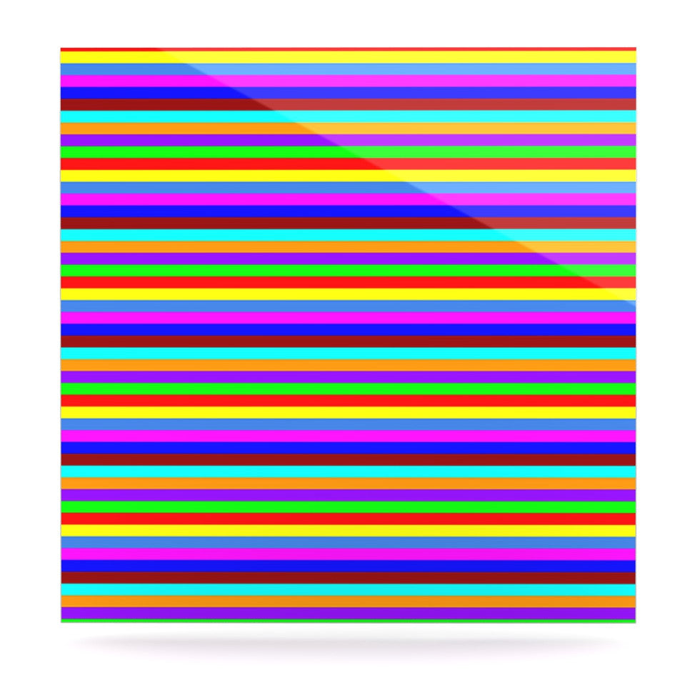 "Trebam ""Bombon"" Rainbow Stripes Luxe Square Panel - KESS InHouse  - 1"