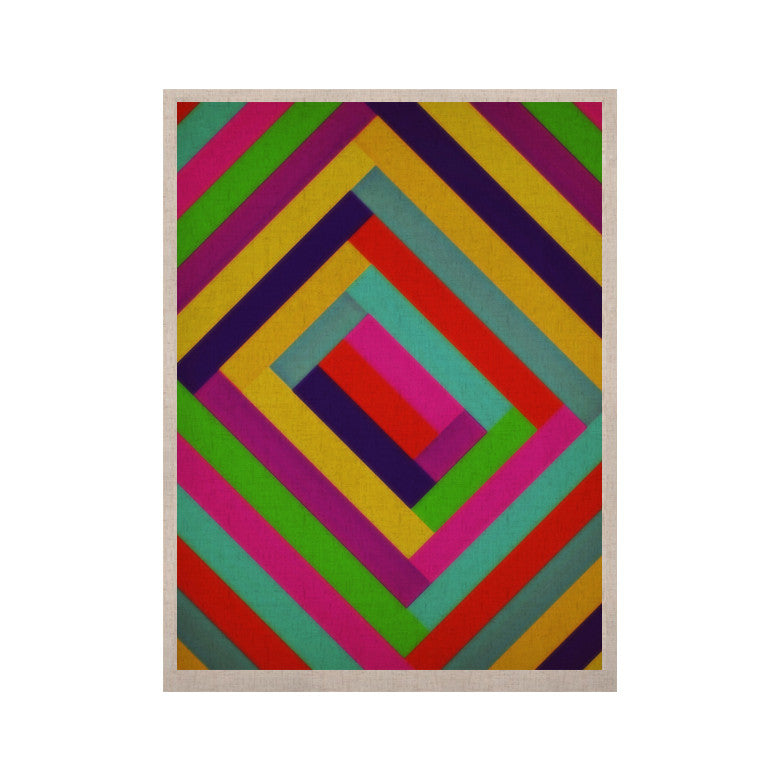 "Trebam ""Nakriv"" Rainbow Abstract KESS Naturals Canvas (Frame not Included) - KESS InHouse  - 1"