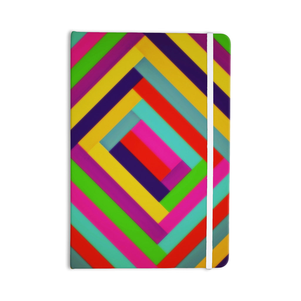 "Trebam ""Nakriv"" Rainbow Abstract Everything Notebook - KESS InHouse  - 1"