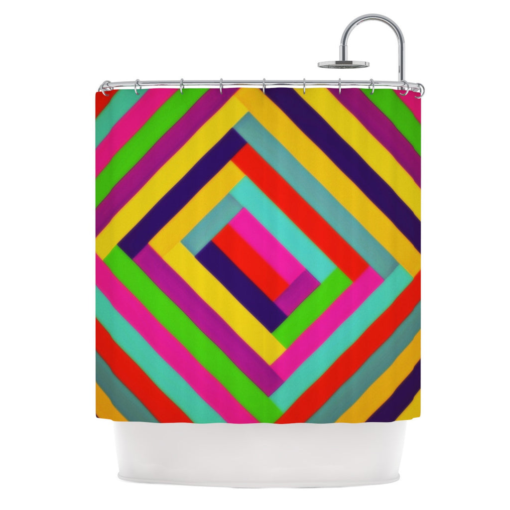 "Trebam ""Nakriv"" Rainbow Abstract Shower Curtain - KESS InHouse"