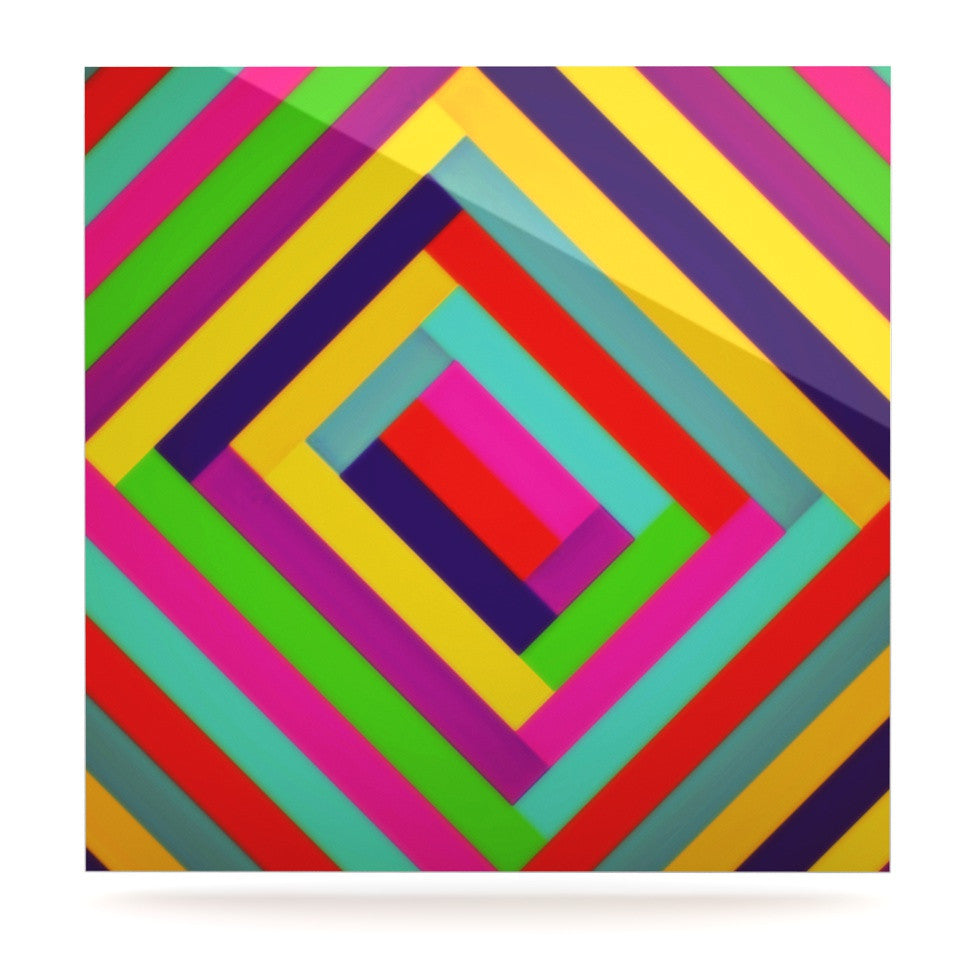 "Trebam ""Nakriv"" Rainbow Abstract Luxe Square Panel - KESS InHouse  - 1"