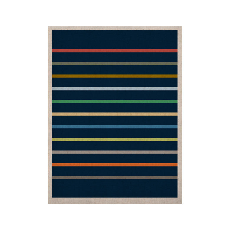 "Trebam ""Tanak"" Navy Blue KESS Naturals Canvas (Frame not Included) - KESS InHouse  - 1"