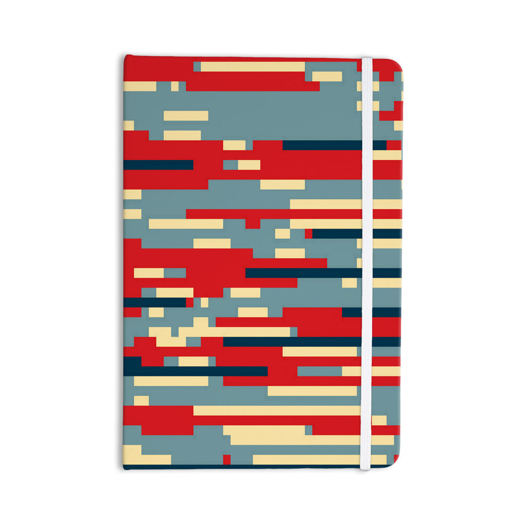 "Trebam ""Nada"" Red Blue Everything Notebook - KESS InHouse  - 1"
