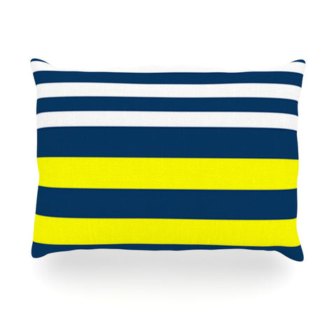 "Trebam ""Nauticki"" Yellow Navy Oblong Pillow - KESS InHouse"
