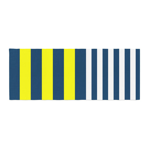 "Trebam ""Nauticki"" Yellow Navy Bed Runner"