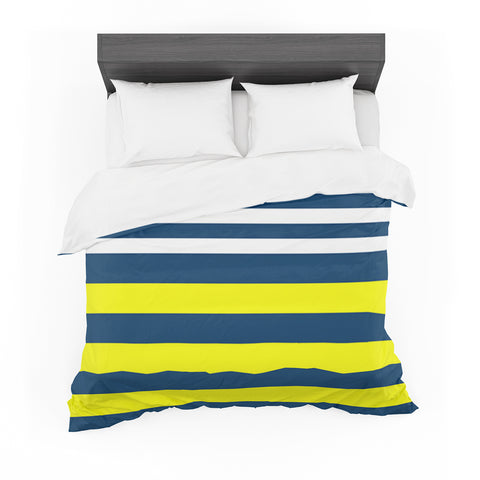 "Trebam ""Nauticki"" Yellow Navy Featherweight Duvet Cover"