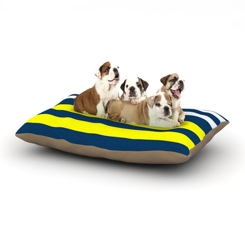 "Trebam ""Nauticki"" Yellow Navy Dog Bed - KESS InHouse  - 1"