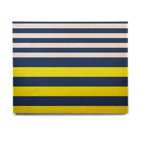 "Trebam ""Nauticki"" Yellow Navy Birchwood Wall Art - KESS InHouse  - 1"