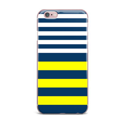 "Trebam ""Nauticki"" Yellow Navy iPhone Case - KESS InHouse"