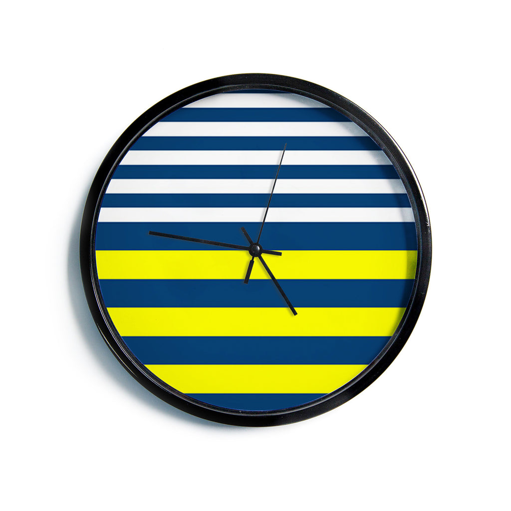 "Trebam ""Nauticki"" Yellow Navy Modern Wall Clock"