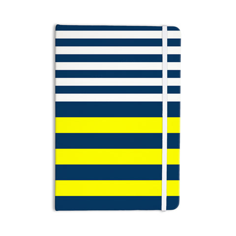 "Trebam ""Nauticki"" Yellow Navy Everything Notebook - KESS InHouse  - 1"